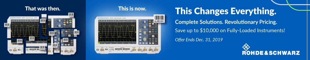 Rohde & Schwarz Test Equipment promo - Save up to $10,000